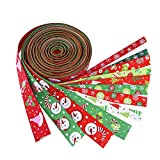 Outus Christmas Grosgrain Ribbon Winter Holiday Ribbon Each 6.6 Feet, 12 Pieces, Total 79.2 Feet, Multicolor