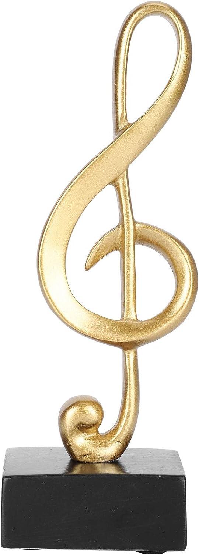 HERCHR Music Decor Music Notes Statue Sculpture Figurine Music Ornaments Decoration for Home Office Desk