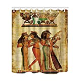 NYMB Egyptian Decor, Egypt Sex Woman Shower Curtain, Mildew Resistant Polyester Fabric Bathroom Decorations, Bath Curtains Hooks Included, 69X70 inches (Multi5)