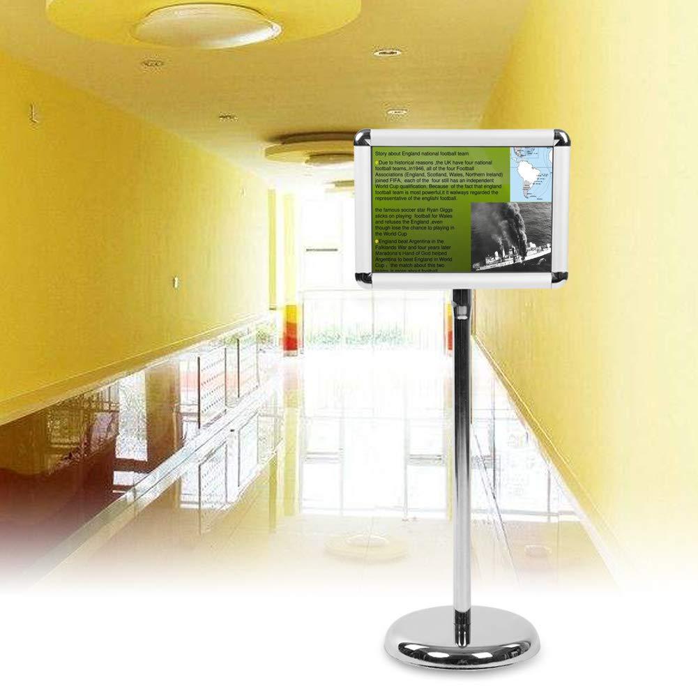 A3/A4 marco con pie soporte stand Menu Publicitaire soporte de anuncios (acero inoxidable, altura regulable y 360 grados giratorio, altura: 800 mm-1235 mm ...