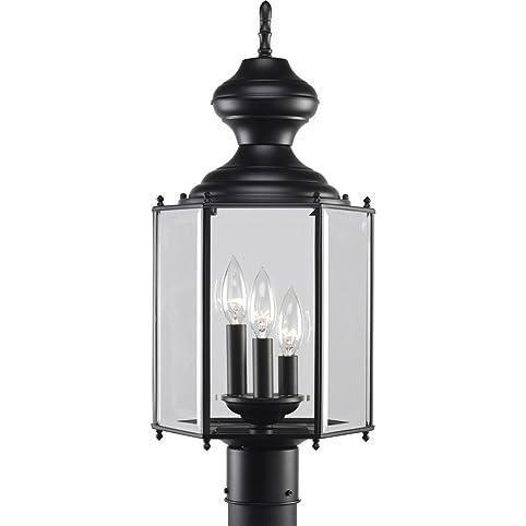 Amazon progress lighting p5432 31 3 light post lantern progress lighting p5432 31 3 light post lantern black aloadofball Image collections