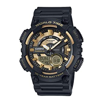 b482c0214f997 Casio Youth-Combination Analog-Digital Gold Dial Men s Watch - AEQ-110BW-