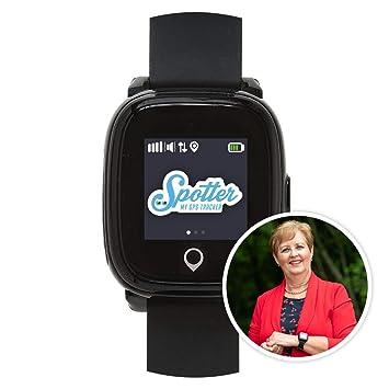 Spotter montre gps noir pour personnes et les seniors, design unique ...