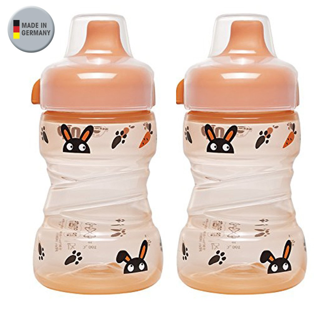 NIP Trainer Cup 260 ml //// 2er Set Boy /& Girl Uni //// ab 9 Monate //// auslaufsicherer made in Germany //// fester Trinkschnabel //// BPA frei