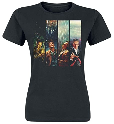 Doctor Who Alice X Zhang Four Doctors Camiseta Mujer Negro