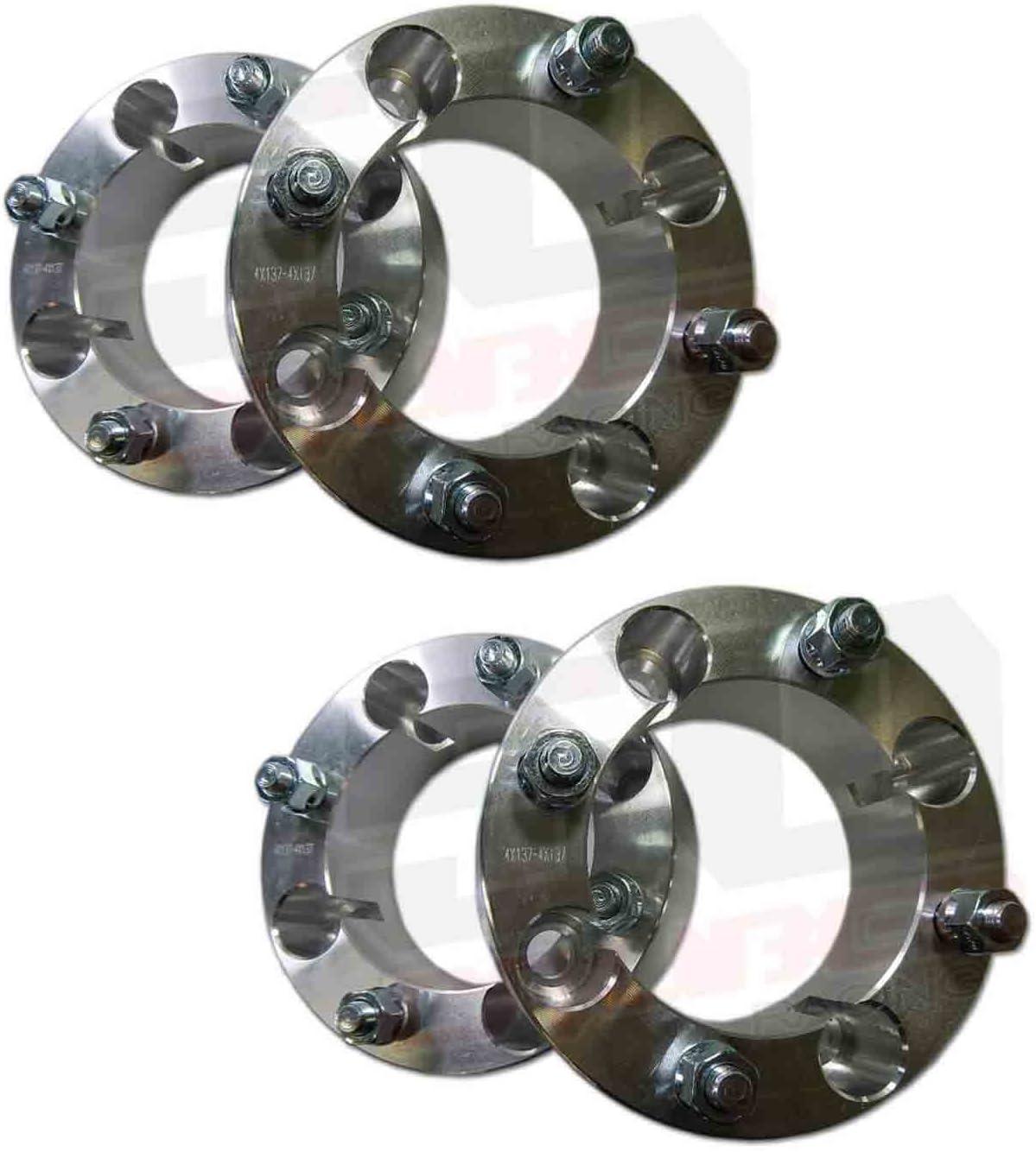 """4 Qty 4X137 2/"""" Billet Aluminum Wheel Spacers Kawasaki Teryx UTV Off Road New"""