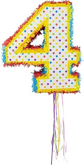Folat 60944 - Piñata número 4 para Rellenar con Dulces ...