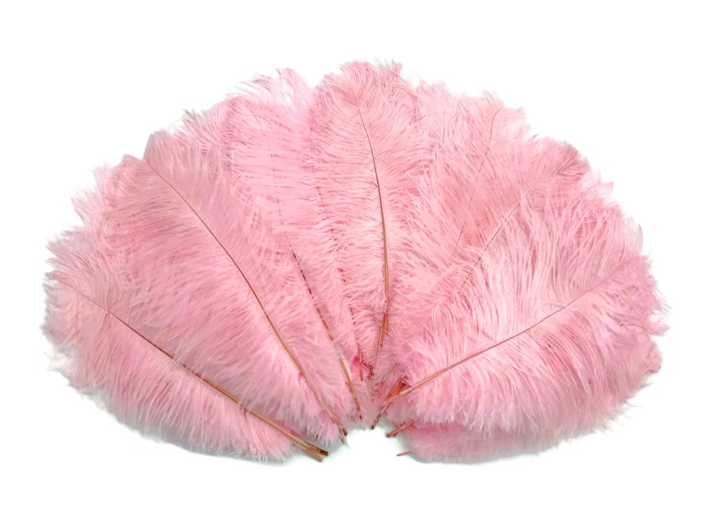 1/2 Lb - 8-10'' Baby Pink Wholesale Ostrich Drab Feathers (Bulk) Party Centerpiece Wedding Gatsby | Moonlight Feather by Moonlight Feather | USA SELLER (Image #4)