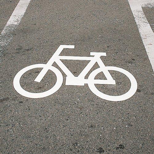 緑十字 路面用標識 自転車マーク(反射) 700×1000mm エラストマー 103003 B00GWY4NTM
