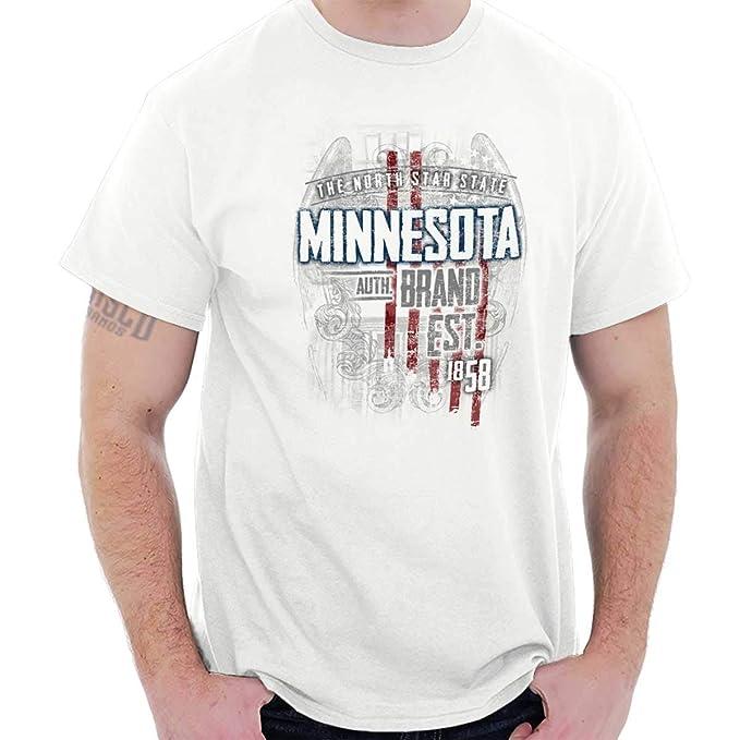 11c8675ae Amazon.com  Minnesota State USA Patriotic American Eagle Tee T Shirt   Clothing