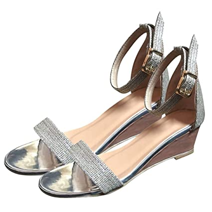 a4da0ce1b5d88 Amazon.com: ❤ Mealeaf ❤ Women's Open-Toe Shoes Ankle Strap ...