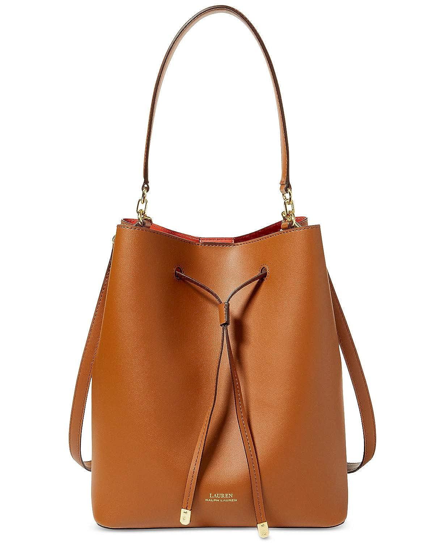 Lauren Ralph Lauren Dryden Debby Leather Drawstring (Black Red)  Handbags   Amazon.com df0c83b103b0e