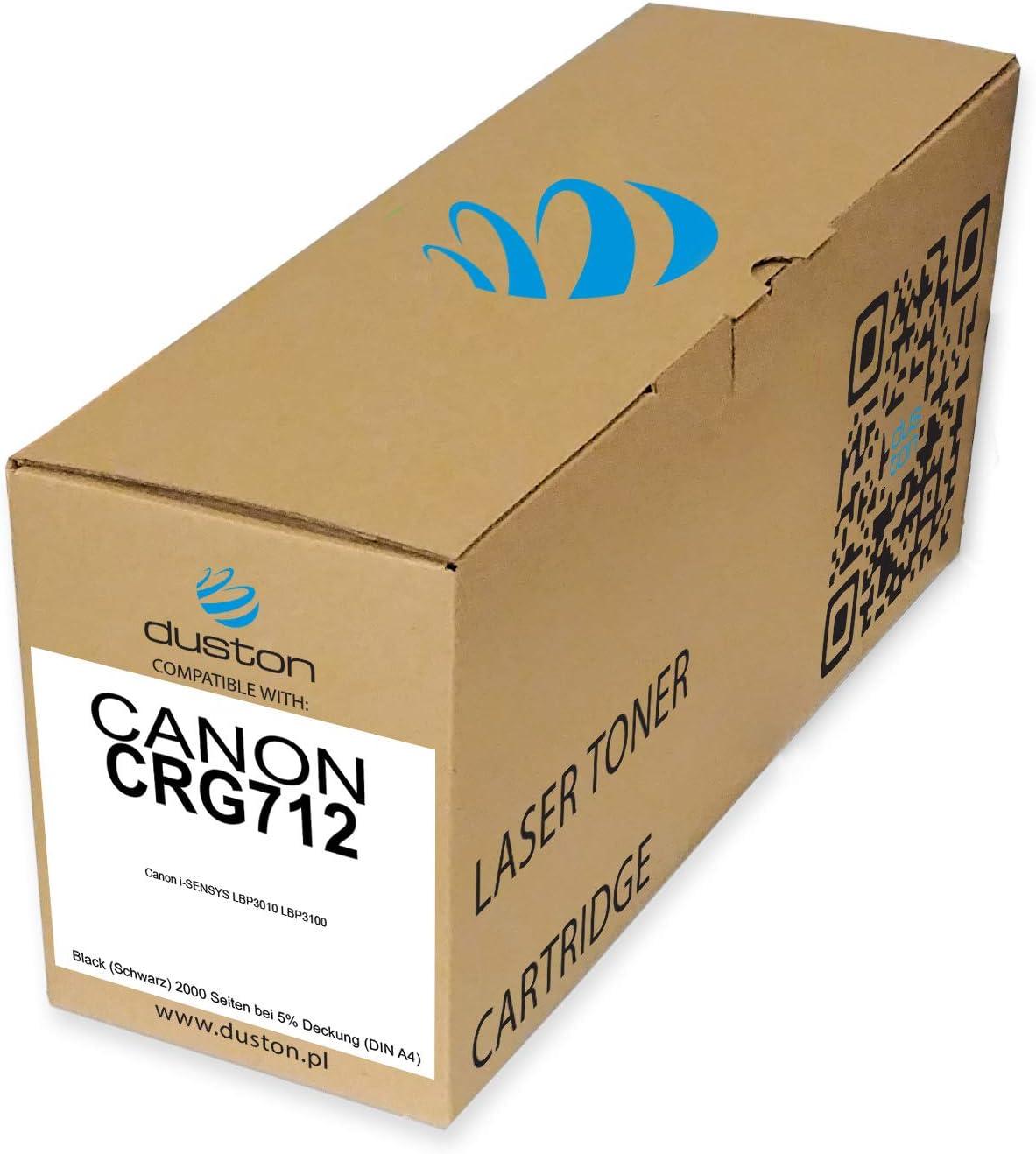 Crg712 1870b002aa Schwarz Duston Toner Kompatibel Zu Canon Lbp3100 Lbp3010 Lbp3018 Lbp3050 Bürobedarf Schreibwaren