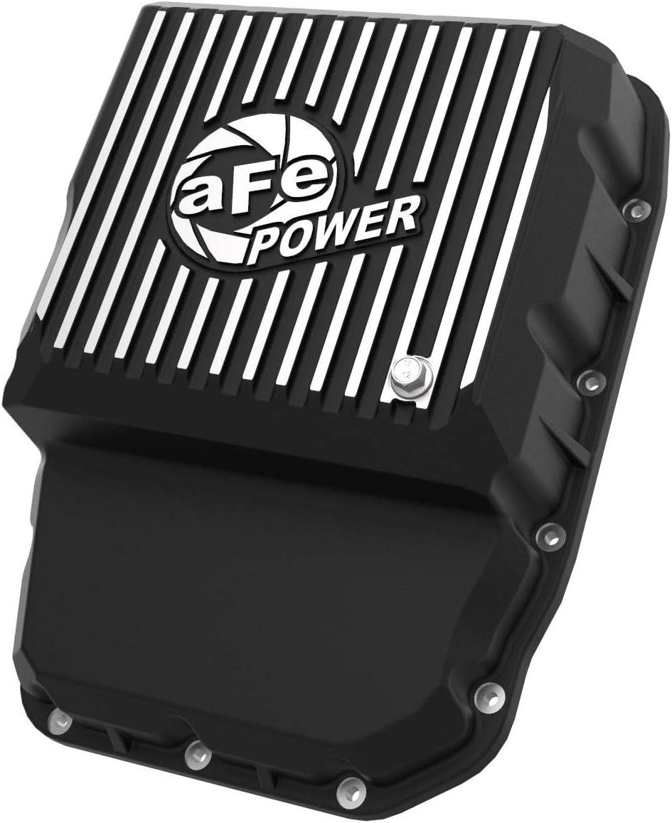 aFe Power 46-71160B Transmission Pan Black w//Machined Fins
