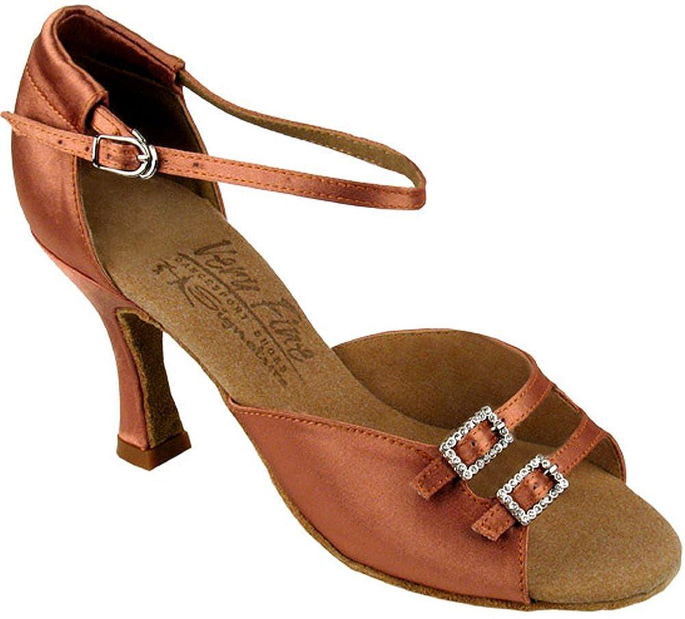 [Very Fine Shoes] レディース B007MRASJW ブラウンサテン 8 B(M) US