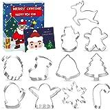 Christmas Shapes Cookie Cutters Set of 11, Gingerbread Man Snowflake Angel Tree Reindeer Santa Snowman Mitten Ornament…