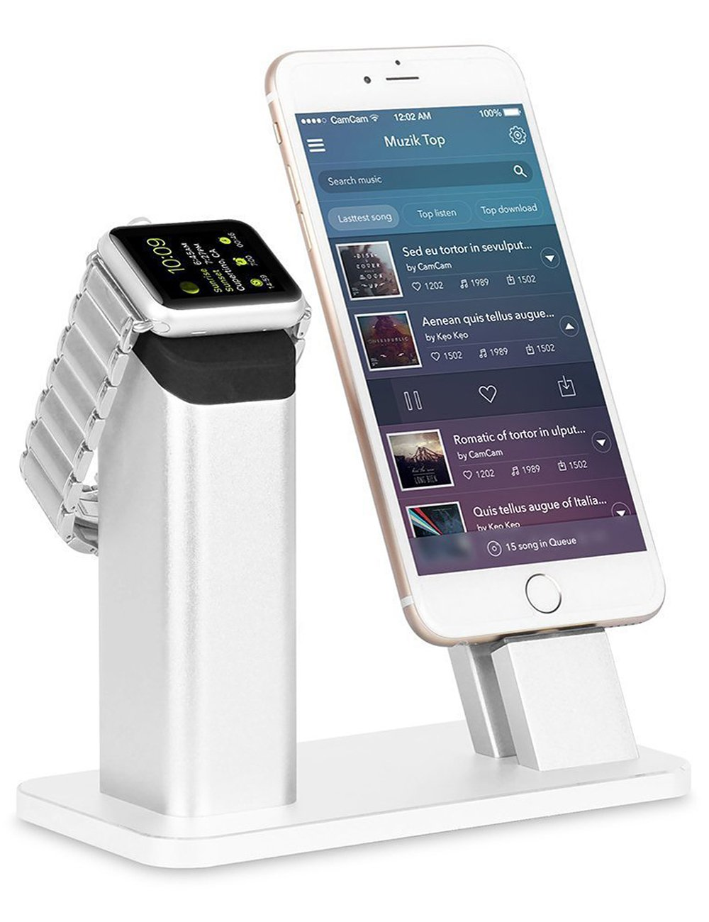 Aluminum stand for iWatch and iPhone