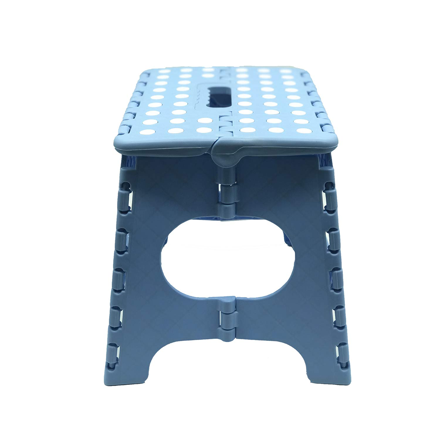 """Folding Step Stool Non-Slip 9/"""" x 11/"""" Platform Holds Up to 300 lbs Blue 11 inch Height Premium Heavy Duty Foldable Stool For Kids /& Adults Kitchen Garden Bathroom Stepping Stool with Handle"""