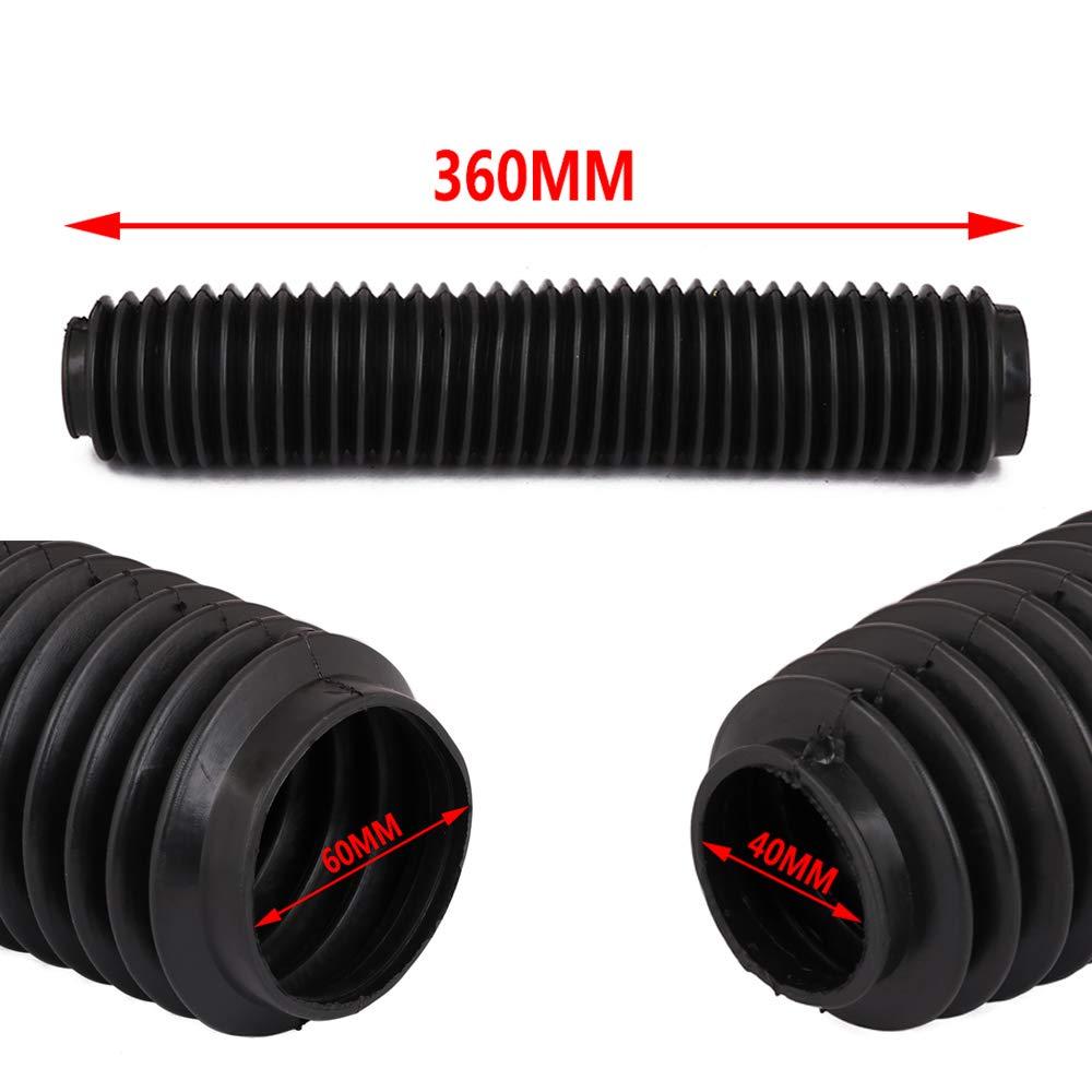 Black Front Fork Boots Shock Absorber Covers Protector Rubber Dust Gator Guard Gaiters For Kawasaki Honda Yamaha Suzuki