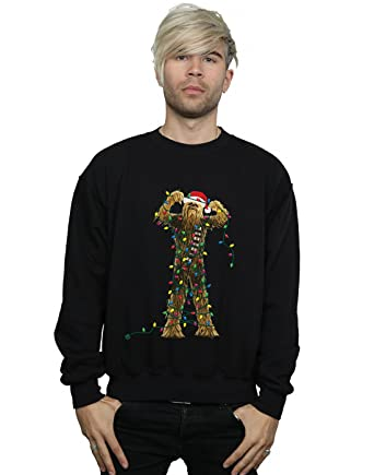 Star Wars Mens Chewbacca Christmas Lights Sweatshirt At Amazon - Hoodie will turn you into chewbacca from star wars