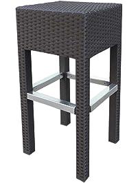 Abba Patio Wicker Barstool Bar Stool Patio Furniture, 14.2u0027u0027L X 14.2u0027