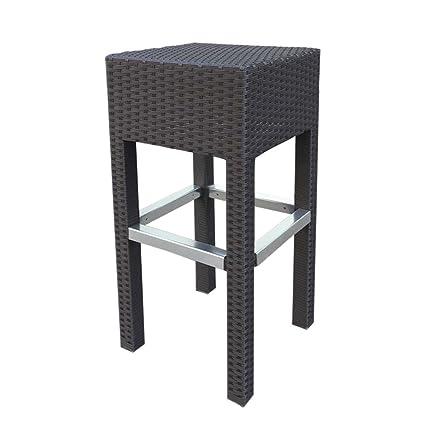 Amazon.com: Abba muebles de mimbre para exterior - Taburete ...