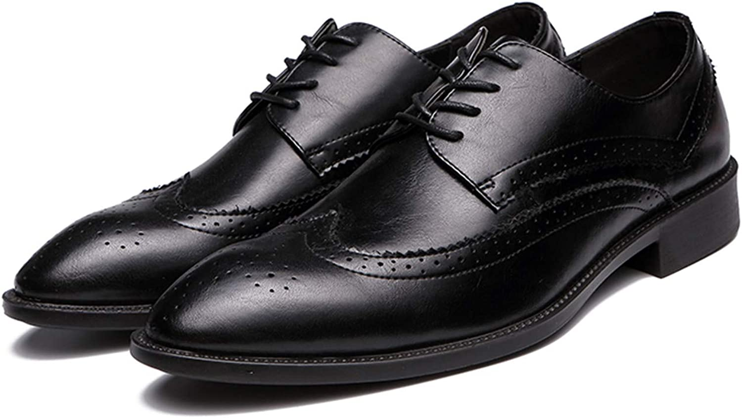 Man Pointed Toe Dress Shoes Mens Patent Leather Black Brogue Shoes Wedding Shoes Oxford Formal Shoes
