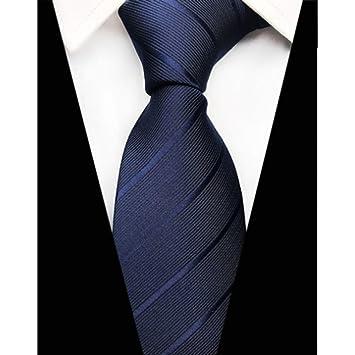 DYDONGWL Corbata Fina Hombre,Diseño Plaid Seda Corbatas para ...