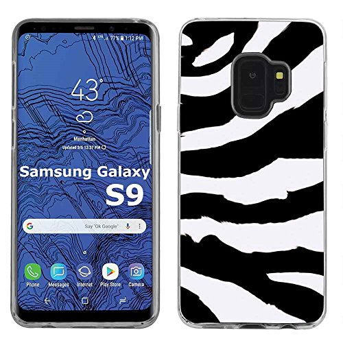 [Armor Xtreme] Samsung Galaxy S9 [Clear] Soft Slim Impact Protector Phone Case [Zebra Stripes Print]