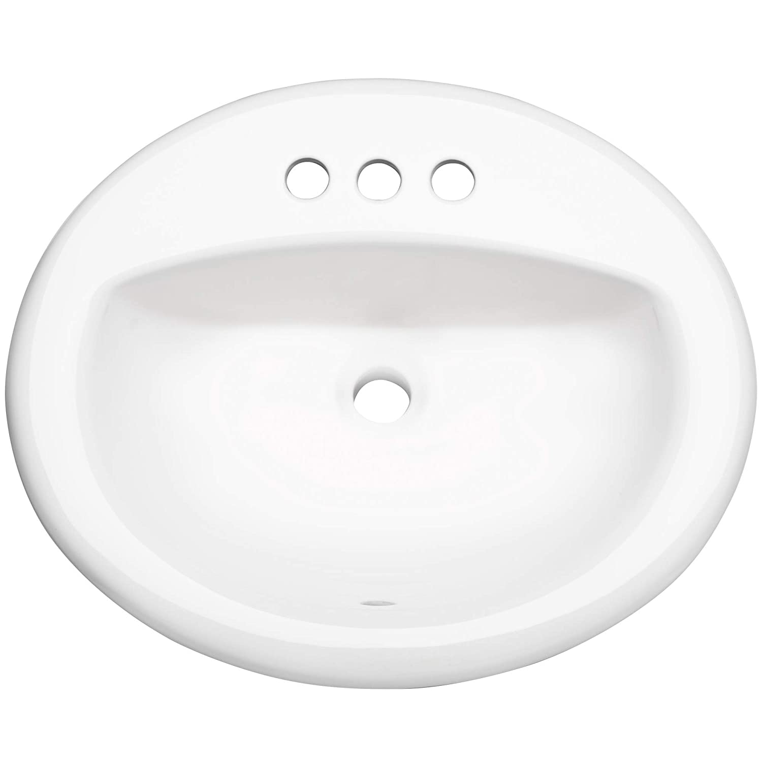 PROFLO PF20174WH 20-1 2 Self Rimming Drop-In Oval Bathroom Sink – 3 Holes Drilled