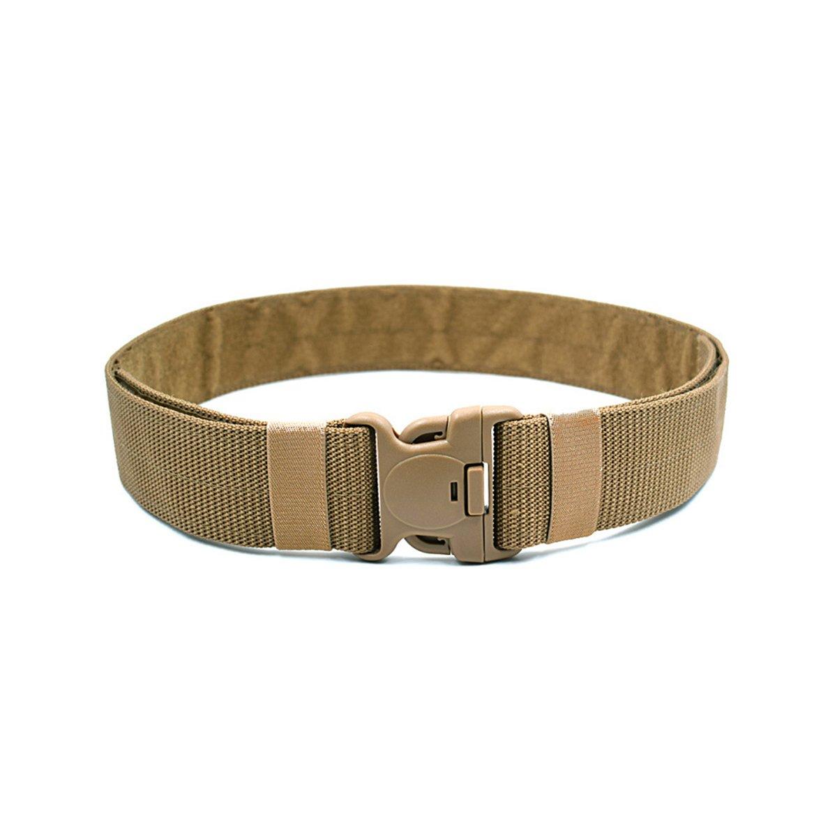 BESTOMZ Cinturón táctico - Cinturón militar para exteriores ajustable con hebilla de liberación rápida 120x5.5x0.3CM (Caqui)