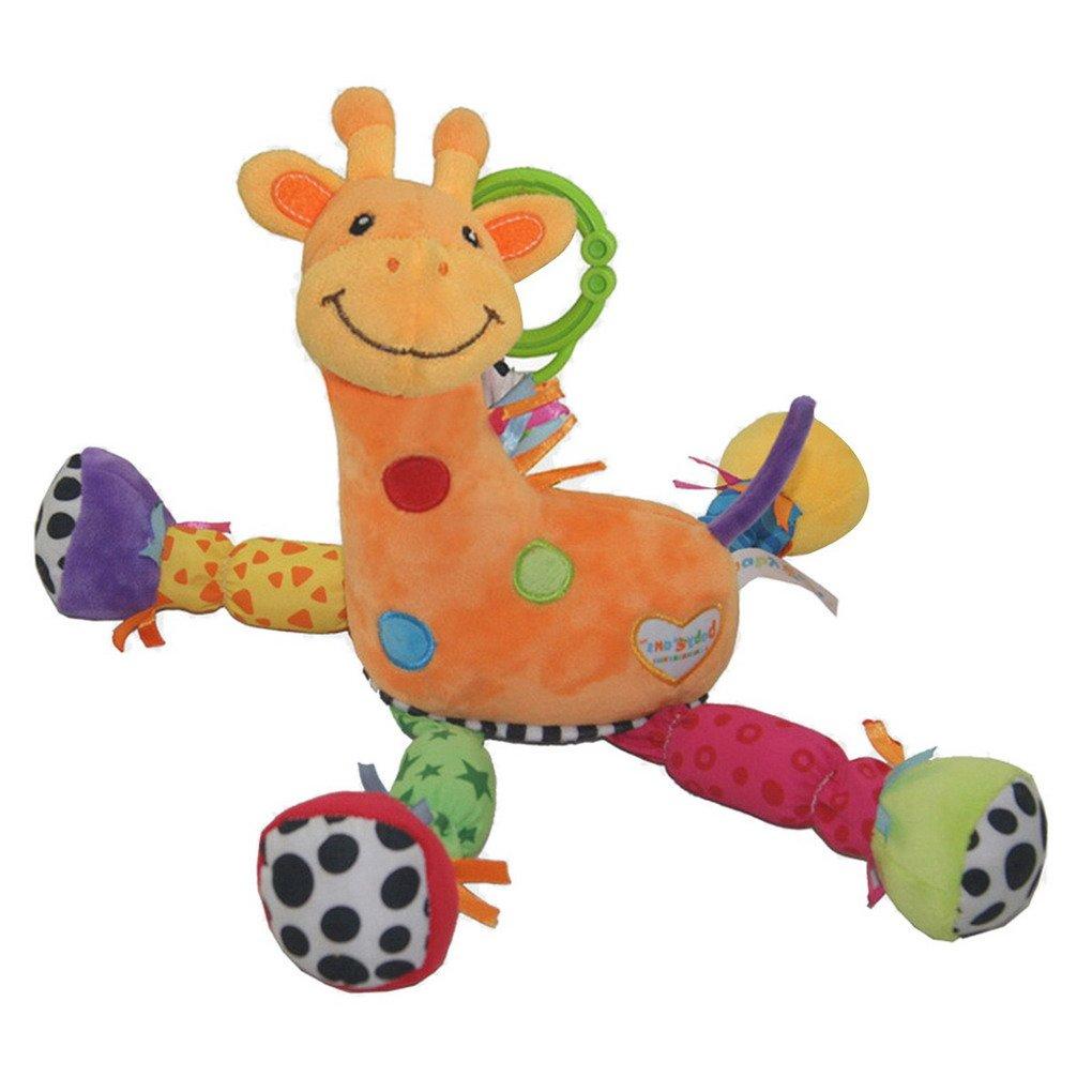 ACMEDE - Hochet en Peluche Musique - Jouet d'éveil de poussette pour bébé - Girafe