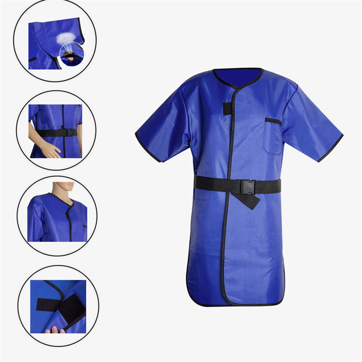 X-Ray Protection Apron,Fencia Flexible X-Ray Protective Cloth Lead Radiation Protection Apron Gel Coat 0.35mmpb Blue by Fencia (Image #2)