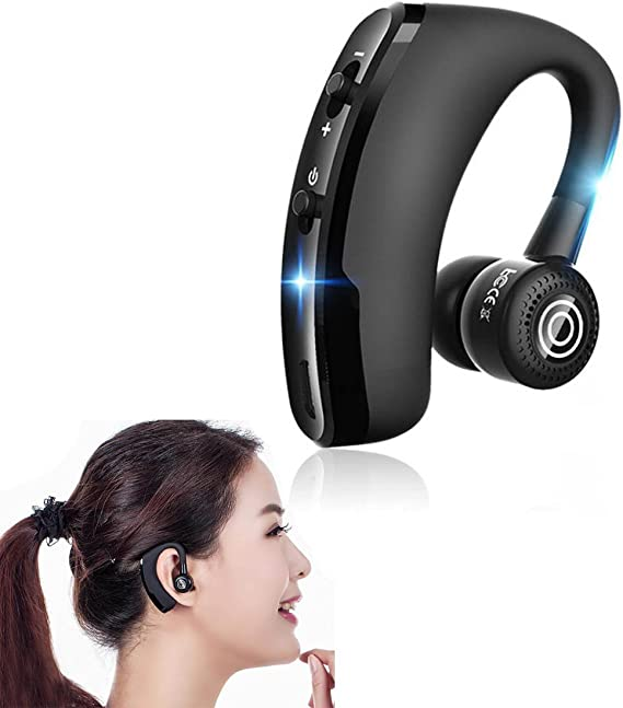 Amazon Com V9 Business Bluetooth Headset Rotatable In Ear Earbud Wireless Headphones Voice Prompts Noise Cancelling Handsfree Earphone For Iphone 7 Plus 6 6s Samsung Andriod Smartphones