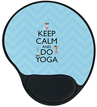 Amazon.com : Keep Calm & Do Yoga Mouse Pad with Wrist ...