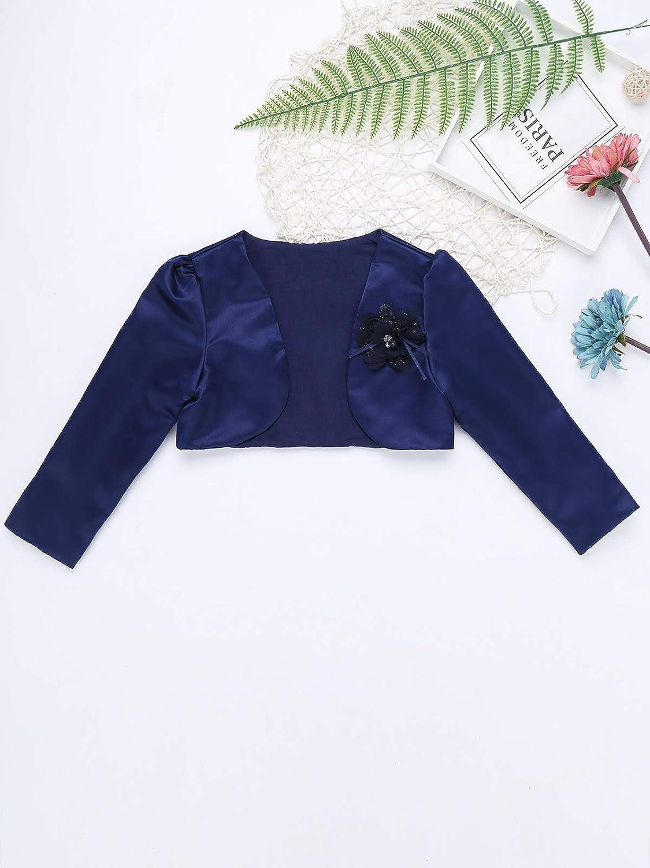 iEFiEL Girls Long Sleeves Bolero Jacket Shrug Short Cardigan Sweater Dress Cover Up