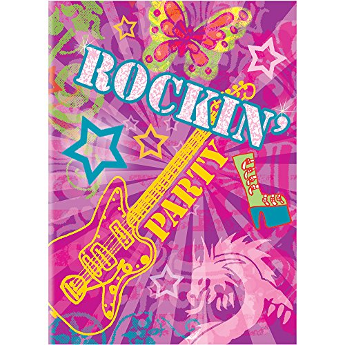 Rock On Girls Party Invitations, 8ct