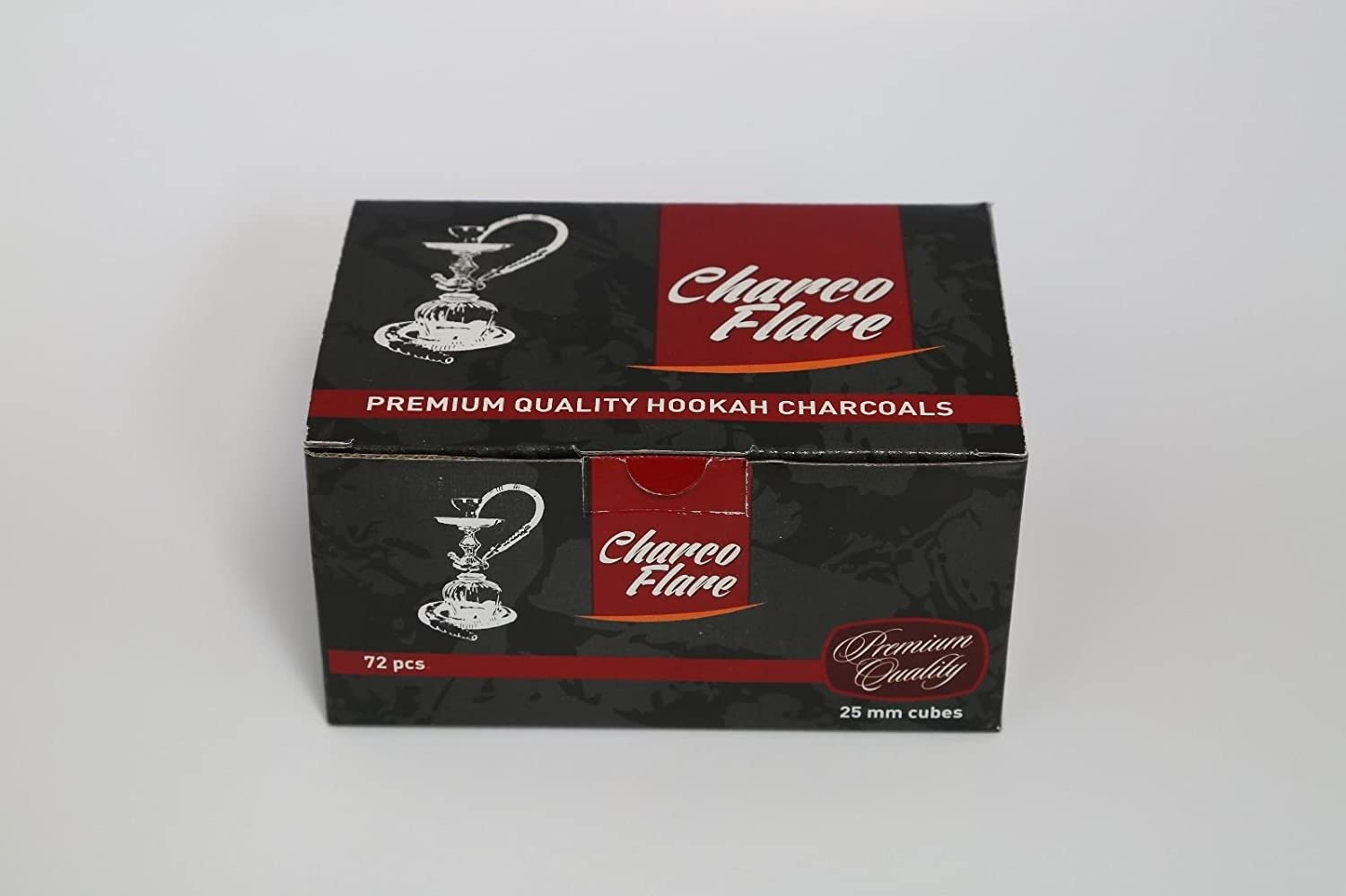 72 Pieces Charco Flare Hookah Natural Coals Hooka Shisha Coconut Charcoal 25mm