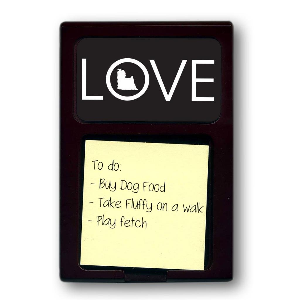 Mahogany Love Yorkshire Terrier Sticky Note Holder (Color=Black)