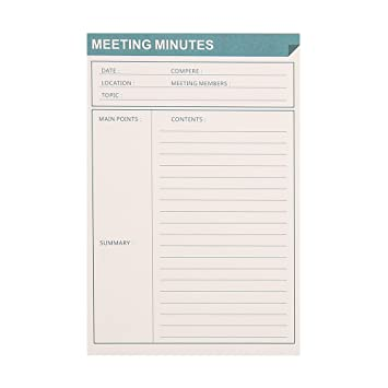 AmazonCom  List Notepad Ahgxg Meeting Minutes Memo Pads List