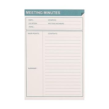 AmazonCom  List Notepad Ahgxg Meeting Minutes Memo Pads List