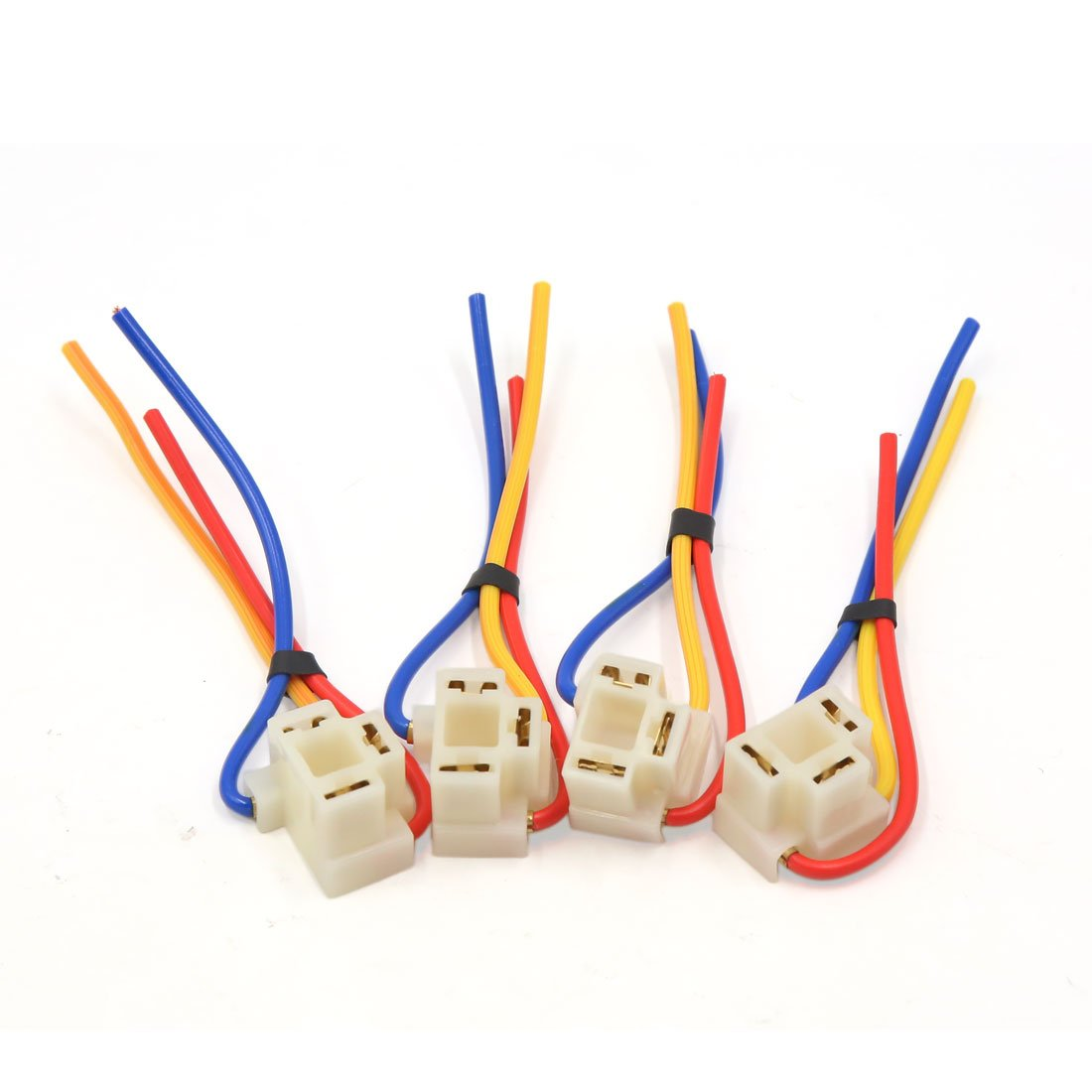 sourcingmap 4 pezzi di plastica auto H4 nebbia luce lampadina presa di corrente cablaggio Estensione filo sourcing map US-SA-AJD-261448