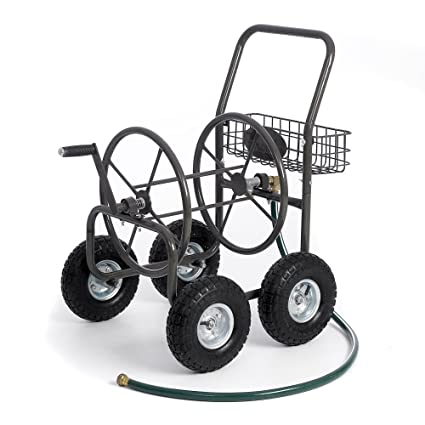 Most Popular Selling Portable Rolling Heavy Duty Steel Hose Reel Cart With Storage Basket Handle-  sc 1 st  Amazon.com : steel hose reel - www.happyfamilyinstitute.com