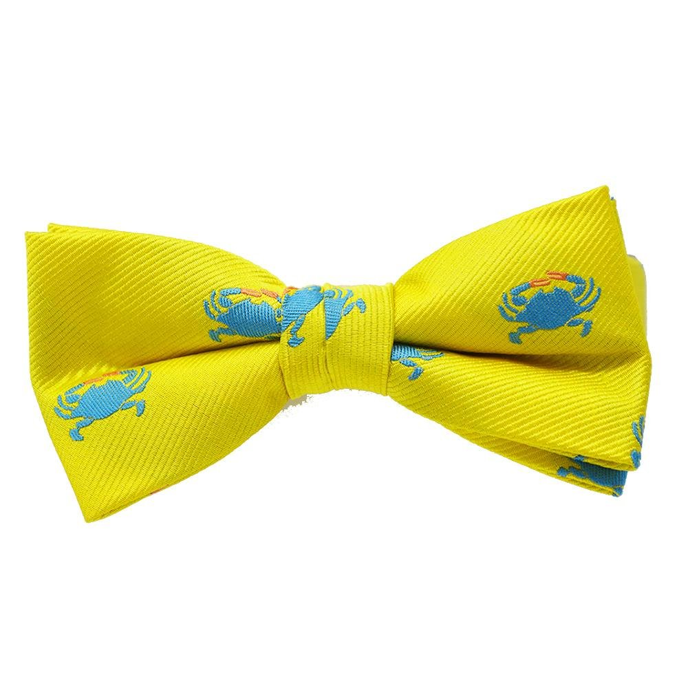 SummerTies Silk Kids Bow Tie - Woven Silk, Printed Silk, Kids Pre-Tied Pre-Tied Kids Bow Tie ST-PTBowTie-W107