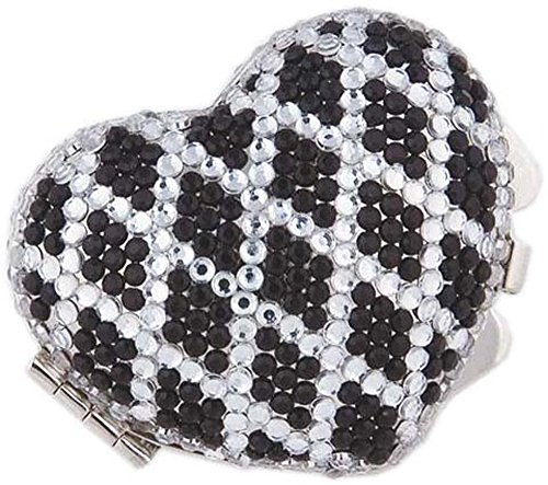 Heart Shaped Pill Box with Crystal Decorations
