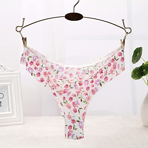 Braguita Bikini Invisible sin Costura de Talla Baja para Mujer, ZARLLE Braguitas Ropa Interior Invisible de Las Mujeres Atractivas Calzas G-Strings Ice Silk ...