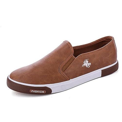 Mens Zapatos Al Aire Libre Hombres Mocasines Caminar Zapatos Hombres Casual Zapatos Hombres Zapatos De Cuero para Hombres Pisos: Amazon.es: Zapatos y ...