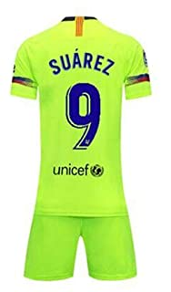 3118c229c LISIMKE Soccer Team 2018/19 Barcelona Away Suarez 9 Mens Replica  Jersey&Shorts Kid Youth Replica