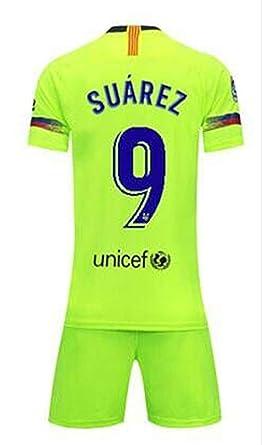 ba2985da7 LISIMKE Soccer Team 2018 19 Barcelona Away Suarez 9 Mens Replica  Jersey Shorts Kid Youth Replica