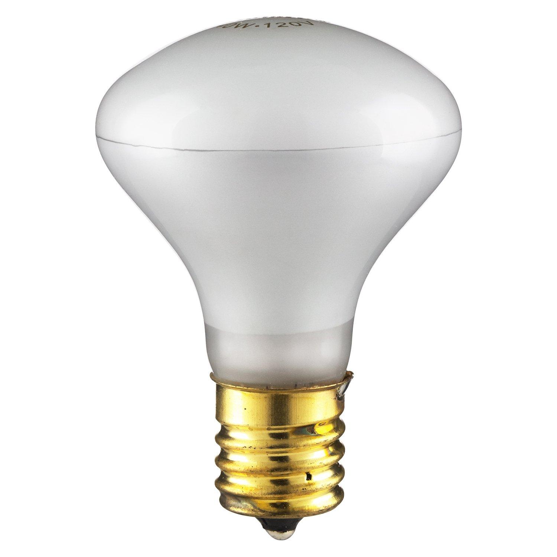 E17 3200K Warm White 12 Pack Sunlite 40R14//FL//N//12PK LED 40W R14 Mini-Reflector Light Bulbs Base Intermediate